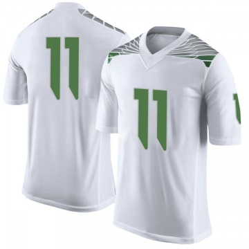 Men's Braxton Burmeister Oregon Ducks Nike Limited White Football College Jersey