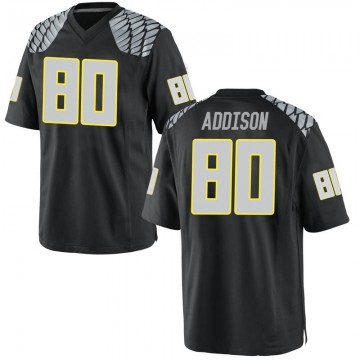 Men's Bryan Addison Oregon Ducks Nike Game Black Football College Jersey