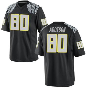 Men's Bryan Addison Oregon Ducks Nike Replica Black Football College Jersey