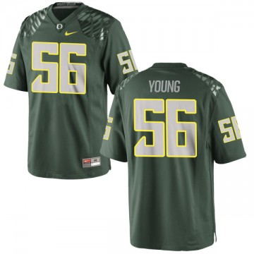 Men's Bryson Young Oregon Ducks Nike Authentic Green Football Jersey -