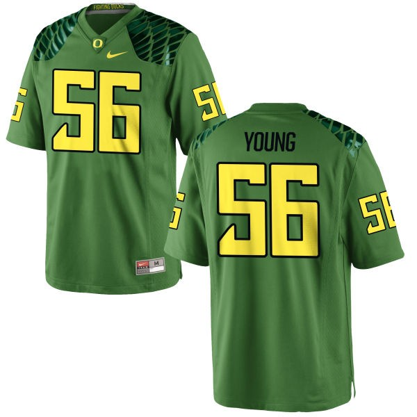 Men's Bryson Young Oregon Ducks Nike Game Green Alternate Football Jersey - Apple