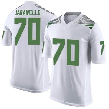 Men's Dawson Jaramillo Oregon Ducks Nike Limited White Football College Jersey