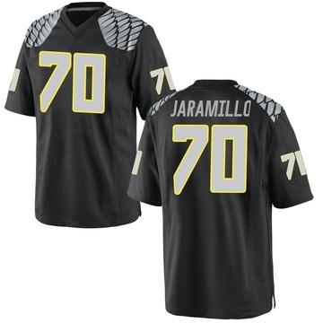 Men's Dawson Jaramillo Oregon Ducks Nike Replica Black Football College Jersey