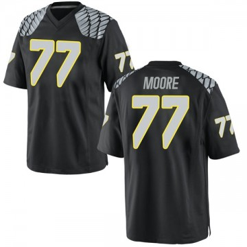 Men's George Moore Oregon Ducks Nike Game Black Football College Jersey