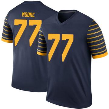 Men's George Moore Oregon Ducks Nike Legend Navy Football College Jersey