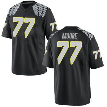 Men's George Moore Oregon Ducks Nike Replica Black Football College Jersey