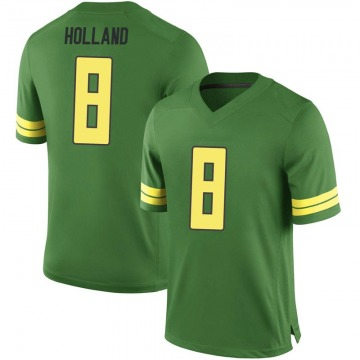 Men's Jevon Holland Oregon Ducks Nike Game Green Football College Jersey