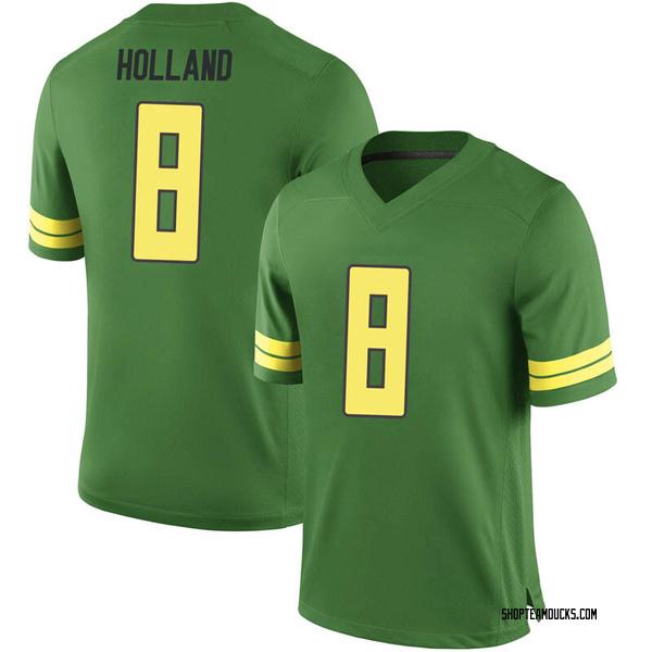 Men's Jevon Holland Oregon Ducks Nike Game Green Football College Jersey