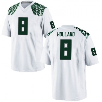 Men's Jevon Holland Oregon Ducks Nike Game White Football College Jersey