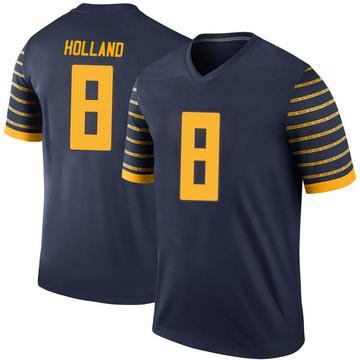 Men's Jevon Holland Oregon Ducks Nike Legend Navy Football College Jersey
