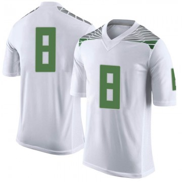 Men's Jevon Holland Oregon Ducks Nike Limited White Football College Jersey