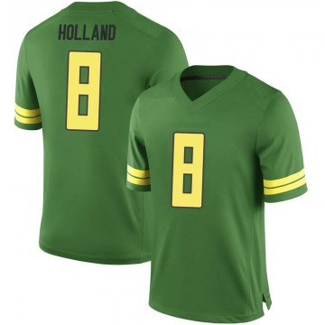 Men's Jevon Holland Oregon Ducks Nike Replica Green Football College Jersey
