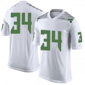 Men's Jordon Scott Oregon Ducks Nike Limited White Football College Jersey