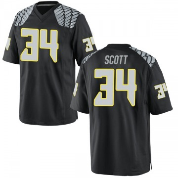 Men's Jordon Scott Oregon Ducks Nike Replica Black Football College Jersey