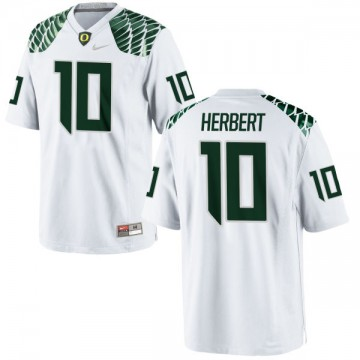 Men's Justin Herbert Oregon Ducks Nike Authentic White Football Jersey -