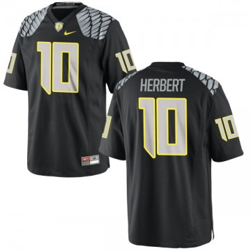 Men's Justin Herbert Oregon Ducks Nike Replica Black Jersey -