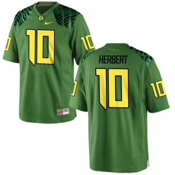 Men's Justin Herbert Oregon Ducks Nike Replica Green Alternate Football Jersey - Apple