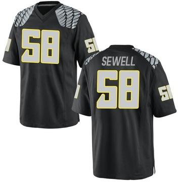 Men's Penei Sewell Oregon Ducks Nike Replica Black Football College Jersey