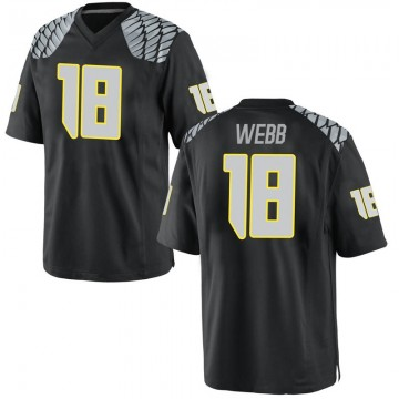 Men's Spencer Webb Oregon Ducks Game Black Football College Jersey