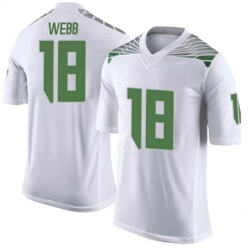 Men's Spencer Webb Oregon Ducks Limited White Football College Jersey