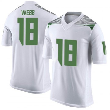 Men's Spencer Webb Oregon Ducks Nike Limited White Football College Jersey