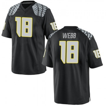 Men's Spencer Webb Oregon Ducks Replica Black Football College Jersey