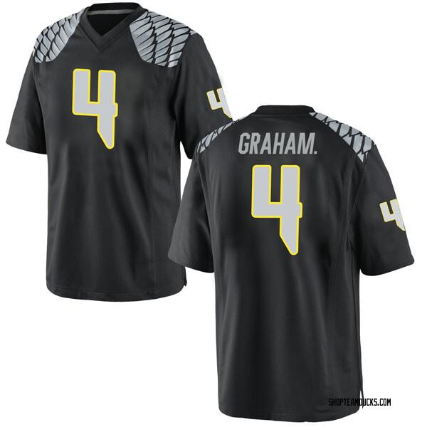 Men's Thomas Graham Jr. Oregon Ducks Nike Game Black Football College Jersey