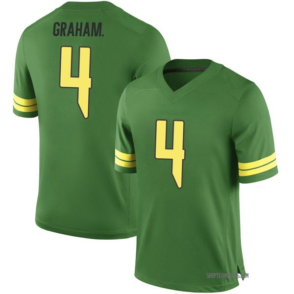 Men's Thomas Graham Jr. Oregon Ducks Nike Game Green Football College Jersey