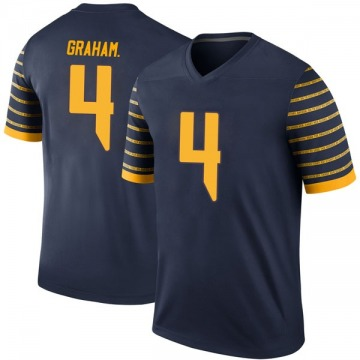 Men's Thomas Graham Jr. Oregon Ducks Nike Legend Navy Football College Jersey