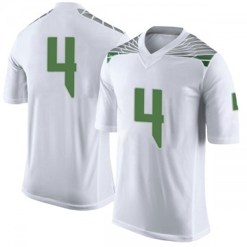 Men's Thomas Graham Jr. Oregon Ducks Nike Limited White Football College Jersey