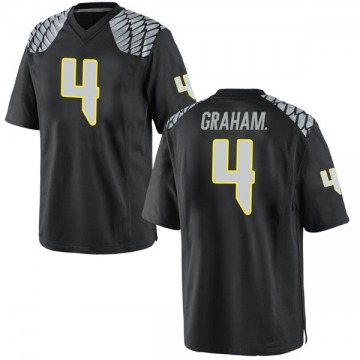 Men's Thomas Graham Jr. Oregon Ducks Nike Replica Black Football College Jersey