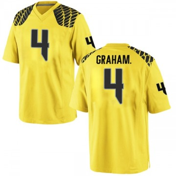 Men's Thomas Graham Jr. Oregon Ducks Nike Replica Gold Football College Jersey
