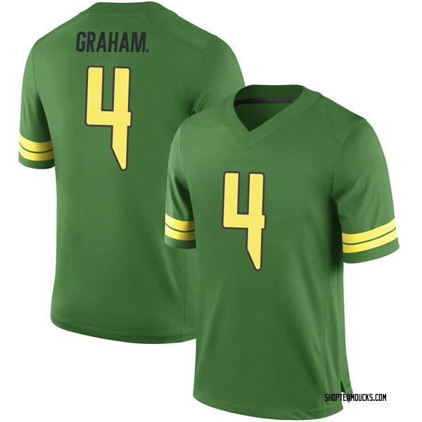 Men's Thomas Graham Jr. Oregon Ducks Nike Replica Green Football College Jersey