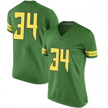 Women's Jordon Scott Oregon Ducks Nike Game Green Football College Jersey