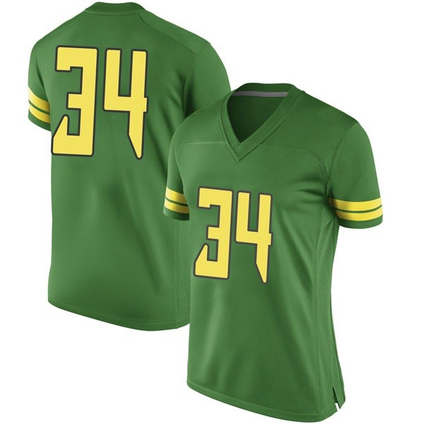 Women's Jordon Scott Oregon Ducks Nike Game Green Football College Jersey