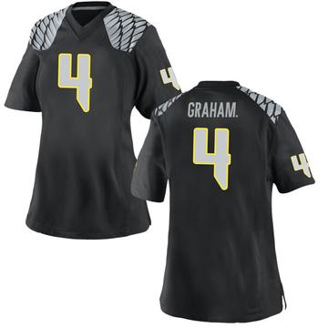 Women's Thomas Graham Jr. Oregon Ducks Nike Game Black Football College Jersey
