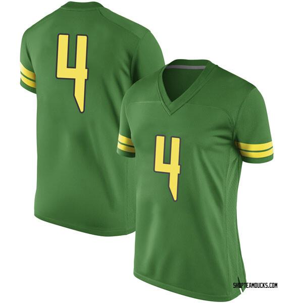 Women's Thomas Graham Jr. Oregon Ducks Nike Game Green Football College Jersey