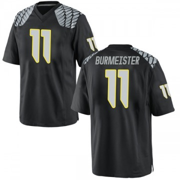 Youth Braxton Burmeister Oregon Ducks Nike Game Black Football College Jersey