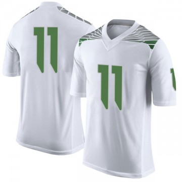 Youth Braxton Burmeister Oregon Ducks Nike Limited White Football College Jersey