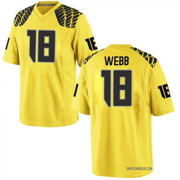 Youth Spencer Webb Oregon Ducks Nike Replica Gold Football College Jersey